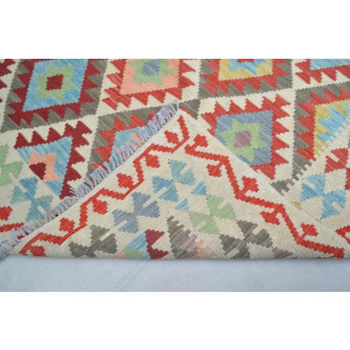 Vloerkleed Tapijt Kelim   193x154 cm Kleed Hand Geweven Kelim