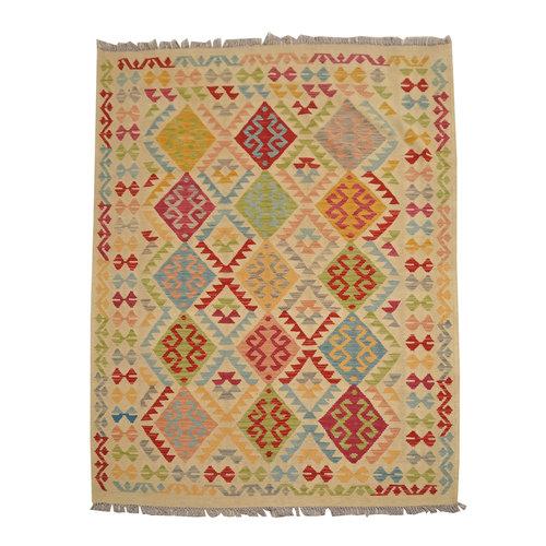 Kelim Kleed 204X154 cm Vloerkleed Tapijt Kelim Hand Geweven