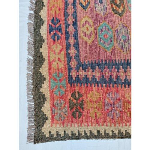 9'94x6'50 Sheep Wool Handwoven Multicolor Traditional Afghan kilim Area Rug