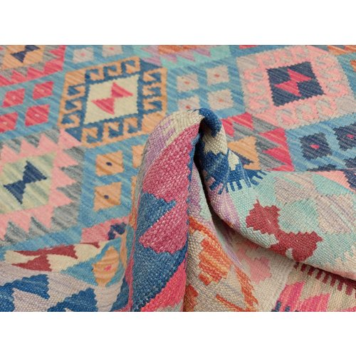exclusive  Vloerkleed Tapijt Kelim 305x208 cm Kleed Hand Geweven Kilim