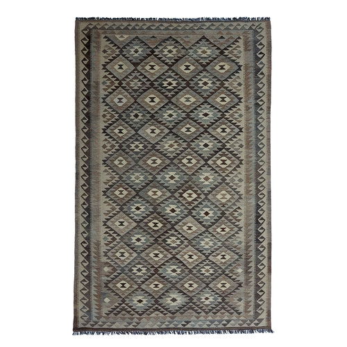 exclusive  Vloerkleed Tapijt Kelim 302x190 cm Kleed Hand Geweven Kilim