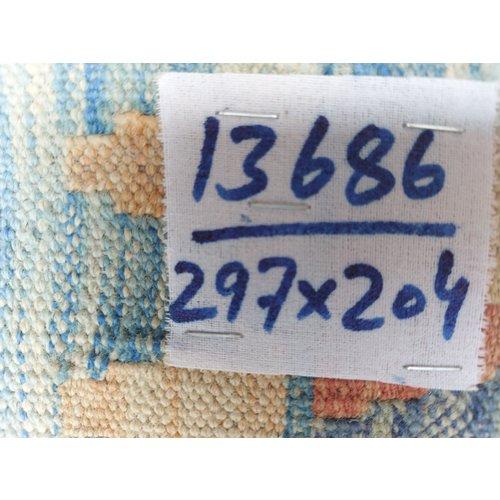 exclusive  Vloerkleed Tapijt Kelim 297x204 cm Kleed Hand Geweven Kilim