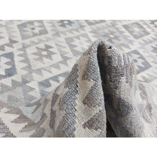 8'01x5'71 Sheep Wool Handwoven Natural Traditional Afghan kilim Area Rug