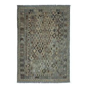 8'30x5'91 Sheep Wool Handwoven Natural Traditional Afghan kilim Area Rug