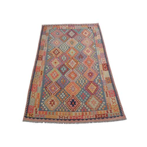 exclusive Mehrfarbig Kelim Teppich 298x204 cm afghan kilim teppich