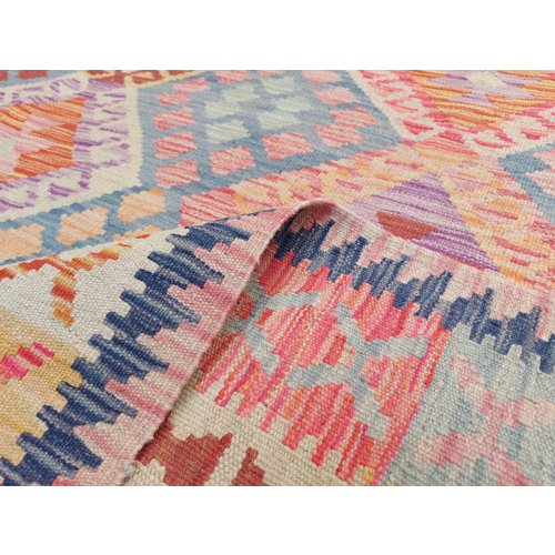 exclusive Veelkleurig  Vloerkleed Tapijt Kelim 298x204 cm Kleed Hand Geweven Kilim