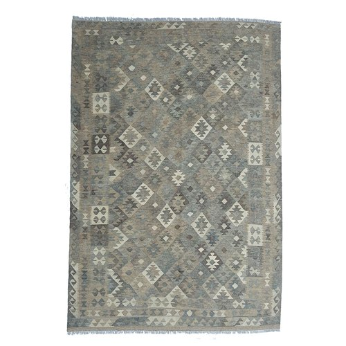 9'38x6'50 Sheep Wool Handwoven Natural Traditional Afghan kilim Area Rug