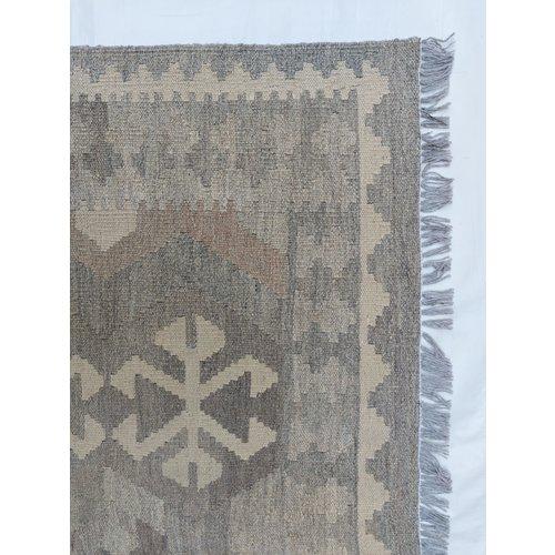 exclusive  Vloerkleed Tapijt Kelim 294x200 cm Natural Kleed Hand Geweven Kilim