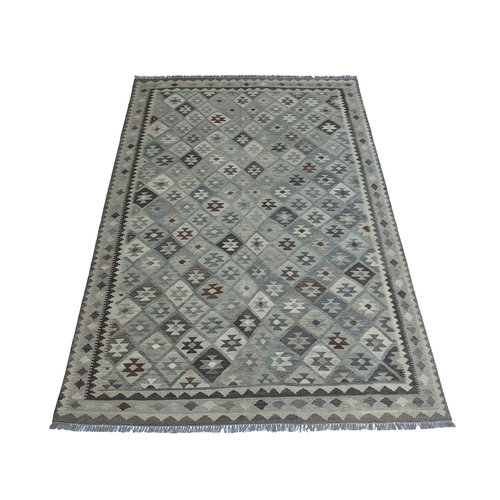 exclusive  Vloerkleed Tapijt Kelim 294x209 cm Natural Kleed Hand Geweven Kilim