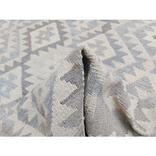 8'51x6'49 Sheep Wool Handwoven Natural Traditional Afghan kilim Area Rug