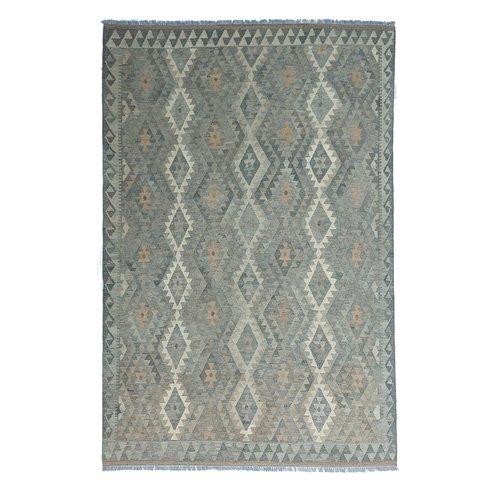 exclusive  Vloerkleed Tapijt Kelim 300x204 cm Natural Kleed Hand Geweven Kilim