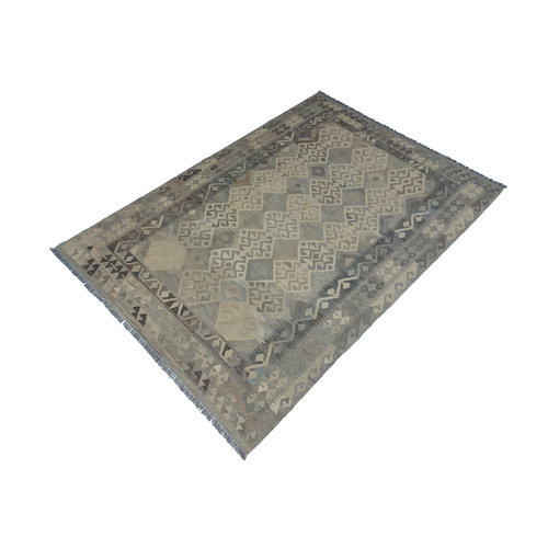 exclusive  Vloerkleed Tapijt Kelim 294x203 cm Natural Kleed Hand Geweven Kilim