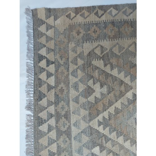 exclusive  Vloerkleed Tapijt Kelim 295x203 cm Natural Kleed Hand Geweven Kilim