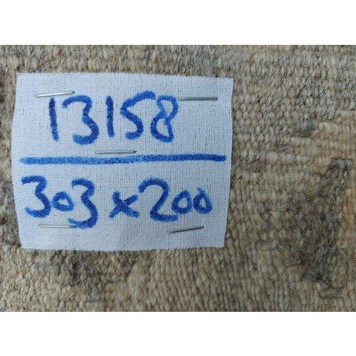 9'94x6'56 Sheep Wool Handwoven Natural Traditional Afghan kilim Area Rug