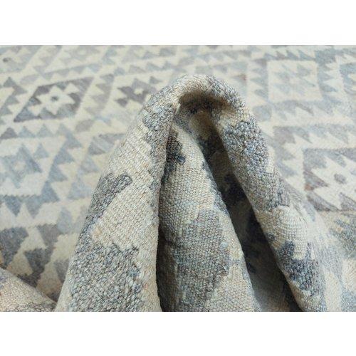 9'71x6'79 Sheep Wool Handwoven Natural Traditional Afghan kilim Area Rug