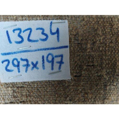 exclusive  Vloerkleed Tapijt Kelim 297x197 cm Natural Kleed Hand Geweven Kilim
