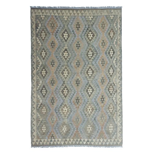 exclusive  Vloerkleed Tapijt Kelim 297x196 cm Natural Kleed Hand Geweven Kilim