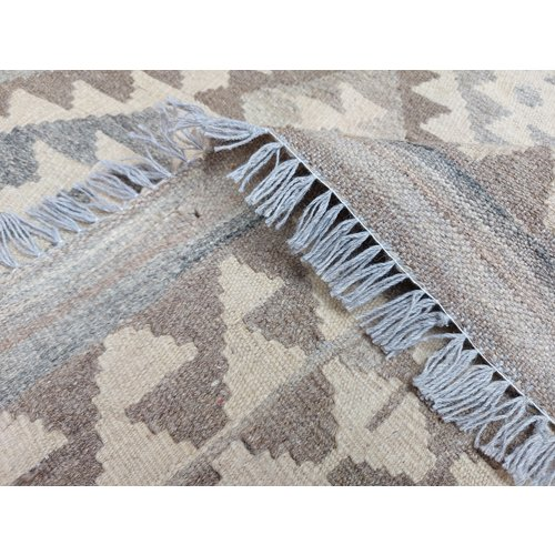 9'78x6'43 Sheep Wool Handwoven Natural Traditional Afghan kilim Area Rug