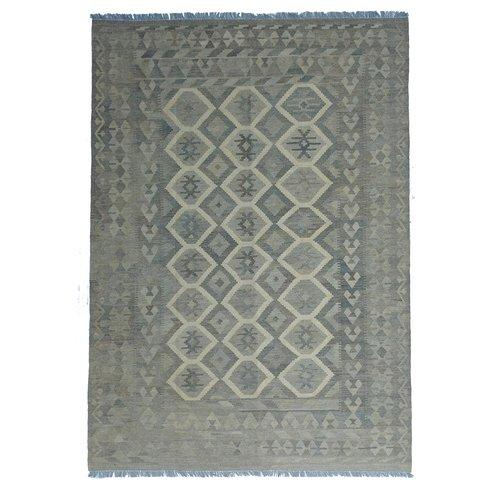 exclusive  Vloerkleed Tapijt Kelim 294x203 cm Natural Kleed Hand Geweven Kilim