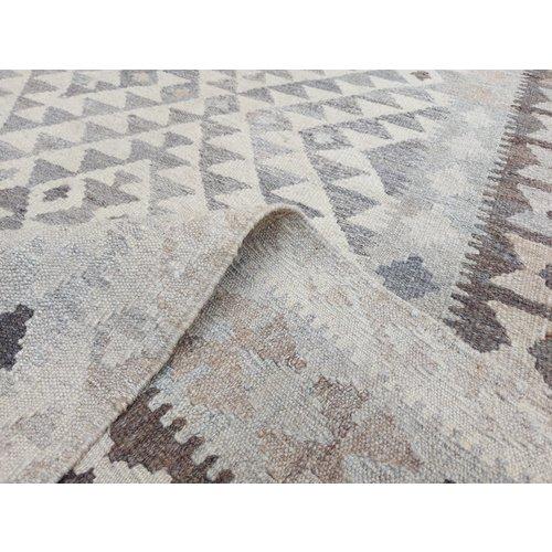 exclusive  Vloerkleed Tapijt Kelim 305x198 cm Natural Kleed Hand Geweven Kilim