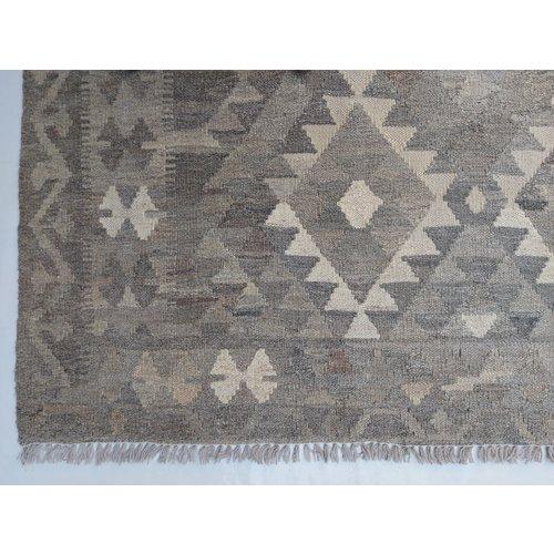 exclusive  Vloerkleed Tapijt Kelim 294x204 cm Natural Kleed Hand Geweven Kilim