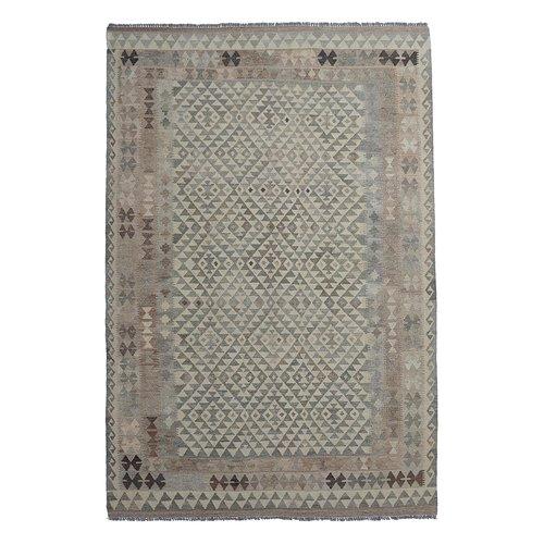9'84x6'63 Sheep Wool Handwoven Natural Traditional Afghan kilim Area Rug