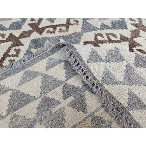 9'55x6'63 Sheep Wool Handwoven Natural Traditional Afghan kilim Area Rug