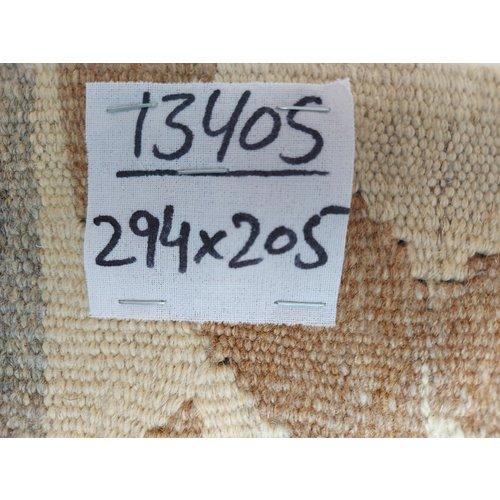 exclusive  Vloerkleed Tapijt Kelim 294x205 cm Natural Kleed Hand Geweven Kilim