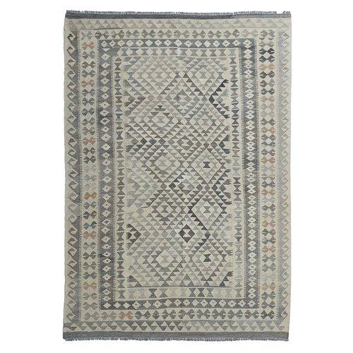 exclusive  Vloerkleed Tapijt Kelim 292x208 cm Natural Kleed Hand Geweven Kilim