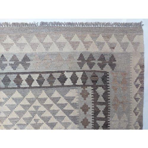 exclusive  Vloerkleed Tapijt Kelim 302x201 cm Natural Kleed Hand Geweven Kilim