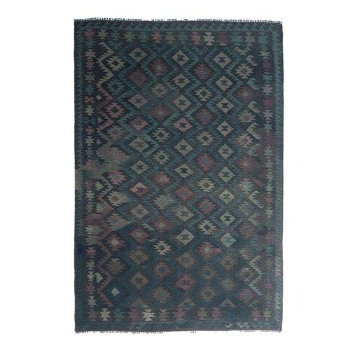 exclusive Veelkleurig  Vloerkleed Tapijt Kelim 303x206 cm Kleed Hand Geweven Kilim
