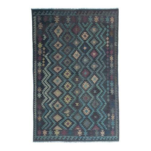9'71x6'59 Sheep Wool Handwoven Multicolor Traditional Afghan kilim Area Rug