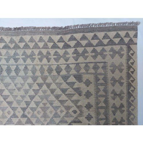 9'65x6'43 Sheep Wool Handwoven Natural Traditional Afghan kilim Area Rug