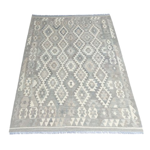 9'65x6'79 Sheep Wool Handwoven Natural Traditional Afghan kilim Area Rug