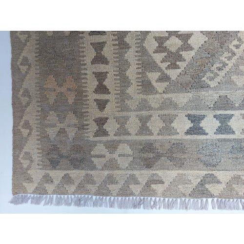 9'88x6'50 Sheep Wool Handwoven Natural Traditional Afghan kilim Area Rug