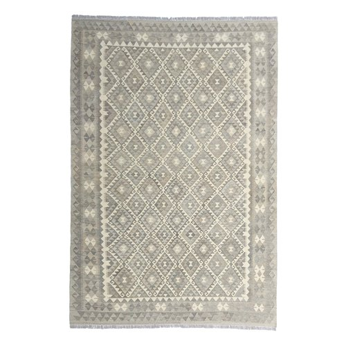 9'74x6'73 Sheep Wool Handwoven Natural Traditional Afghan kilim Area Rug