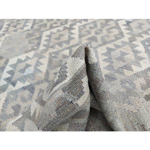 9'88x6'86 Sheep Wool Handwoven Natural Traditional Afghan kilim Area Rug