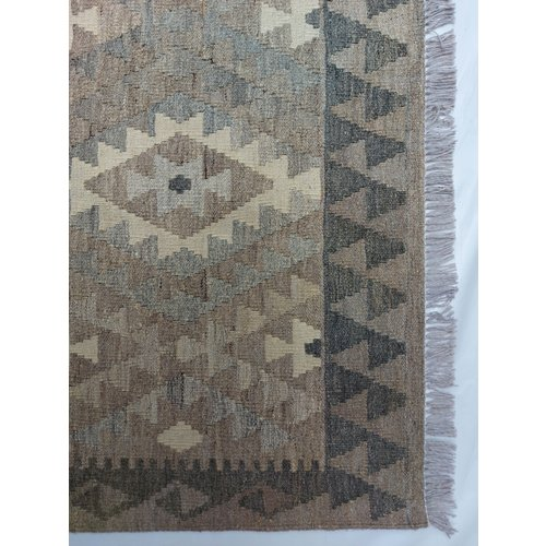 9'78x6'73 Sheep Wool Handwoven Natural Traditional Afghan kilim Area Rug