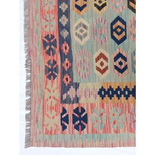 9'74x6'50 Sheep Wool Handwoven Multicolor Traditional Afghan kilim Area Rug