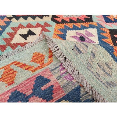 9'81x6'73 Sheep Wool Handwoven Multicolor Traditional Afghan kilim Area Rug