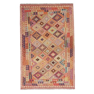 exclusive Kelim Teppich 302x196 cm Multicolor afghan kilim teppich