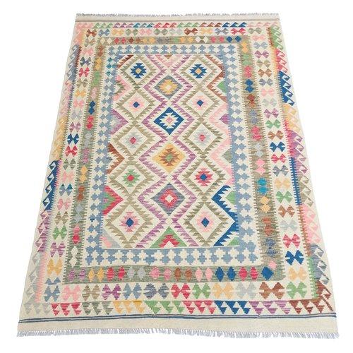 exclusive Kelim Teppich 282x193cm Multicolor afghan kilim teppich