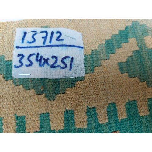 exclusive Kelim Teppich 354x251 cm Multicolor afghan kilim teppich