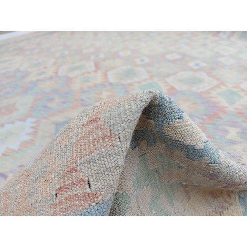 exclusive Kelim Teppich 303x255 cm Multicolor afghan kilim teppich