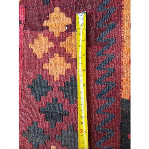 13'71x8'92 Sheep Wool Handwoven Multicolor Traditional Afghan kilim Area Rug