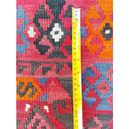 exclusive  Vloerkleed Tapijt Kelim 402x268 cm Multicolor Kleed Hand Geweven Kilim