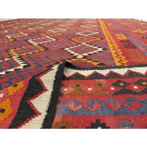 16'47x10'30 Sheep Wool Handwoven Multicolor Traditional Afghan kilim Area Rug