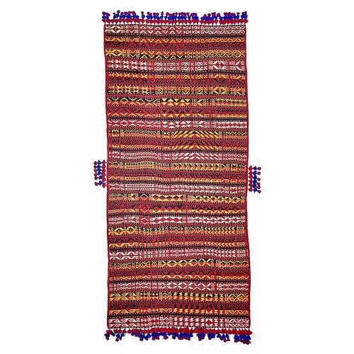 11'09x5'28 Sheep Wool Handwoven Multicolor Traditional Afghan kilim Area Rug