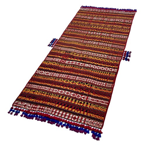 exclusive Kelim Teppich 338x161 cm Multicolor afghan kilim teppich