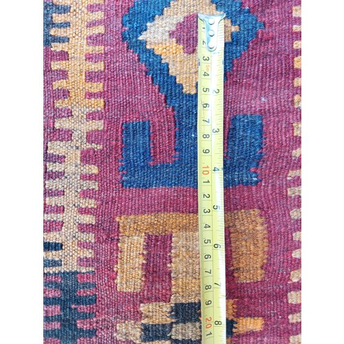 exclusive  Vloerkleed Tapijt Kelim 341x240 cm Multicolor Kleed Hand Geweven Kilim